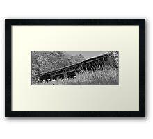Dad's Garage b/w Framed Print