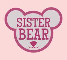 SISTER Bear in teddy bear shape Kids Clothes