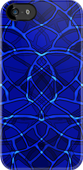 Alien Blue-iPhone Case by Carlos Phillips