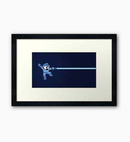 Mega Man pixel Framed Print