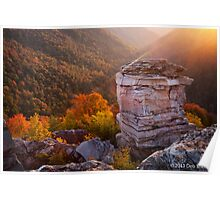 Sunset at Lindy Point Overlook, Blackwater Falls State Park Poster