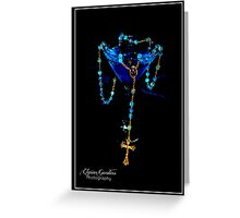 Blue Raspberry Martini & Rosary Greeting Card