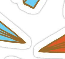 Paper Planes pattern Sticker
