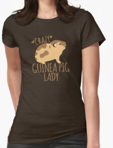 Crazy Guinea Pig Lady Womens Fitted T-Shirt