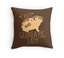 Crazy Guinea Pig Lady Throw Pillow