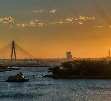 Sunset over Balmain by Jason Ruth