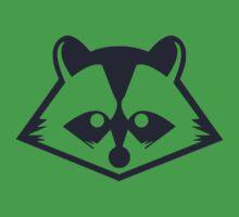 Navy Raccoon Head One Piece - Short Sleeve