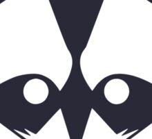 Navy Raccoon Head Sticker