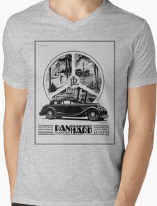 Classic cars, French art deco icon Panhard Mens V-Neck T-Shirt