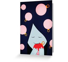 Adventure Time Marceline Christmas Baubles Greeting Card