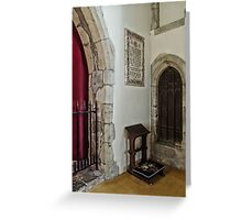 Kneeler Greeting Card