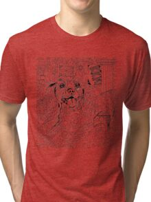 Color your own dog  Tri-blend T-Shirt