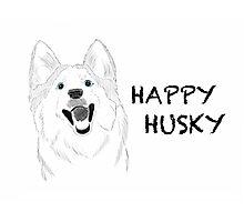 Happy Husky Photographic Print