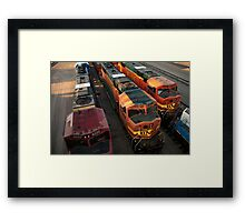 Train Engines Framed Print
