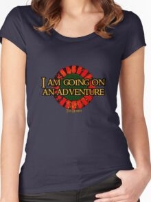 The Hobbit - I am going on an adventure! Women's Fitted Scoop T-Shirt