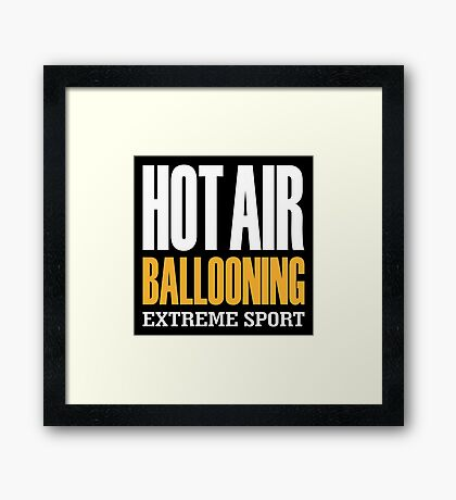 Hot Air Ballooning Extreme Sport Framed Print