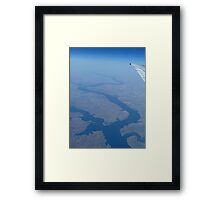 River From Up High Framed Print