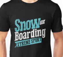 Snowboarding Black Extreme Sport Unisex T-Shirt