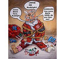 Mad Santa Photographic Print