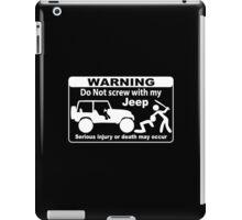 Warning  iPad Case/Skin