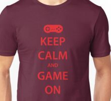 KEEP CALM and GAME ON (red) Unisex T-Shirt