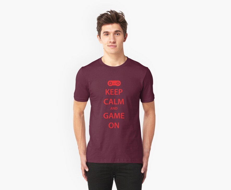 KEEP CALM and GAME ON (red) by daveit