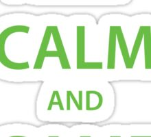 KEEP CALM and GAME ON (green) Sticker