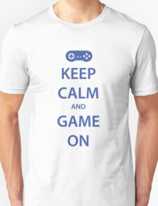 KEEP CALM and GAME ON (blue) T-Shirt