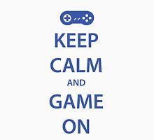 KEEP CALM and GAME ON (blue) Unisex T-Shirt