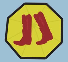 Red Boots and Yellow Umbrella Kids Tee