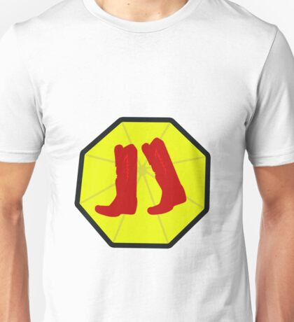 Red Boots and Yellow Umbrella Unisex T-Shirt