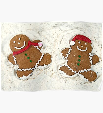 Gingerbread Cookie Couple Poster