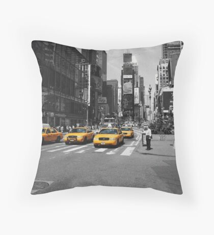 Times Square NYC Throw Pillow