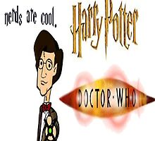 Nerds are cool, im a nerd now. Harry Potter + Doctor Who by cjcooldog