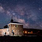 Visitor at Bodie Schoolhouse by Cat Connor