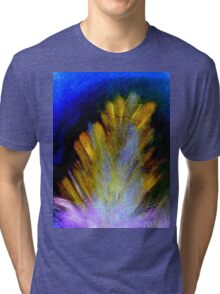 """Peacock Feather""  Tri-blend T-Shirt"