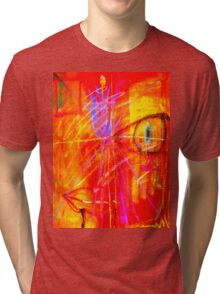 """Red Tulip Lady"" Tri-blend T-Shirt"