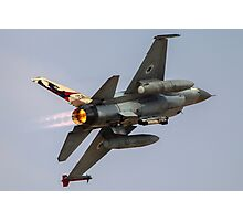 Israeli Air Force (IAF) F-16A (Netz) Fighter jet at takeoff  Photographic Print