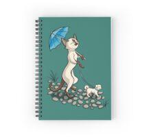 A Cat Walk In The Park Spiral Notebook
