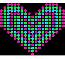 Pixel Heart Photographic Print