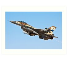 Israeli Air Force (IAF) F-16C (Barak) Fighter jet in flight Art Print