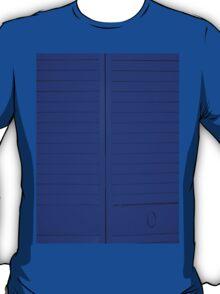 """""""Blue Closet Doors"""" by Chip Fatula T-Shirt"""