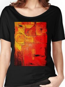 """""""Orange Abstract"""" Women's Relaxed Fit T-Shirt"""