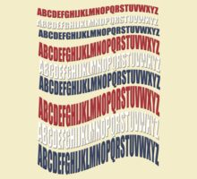 RED WHITE & BLUE alphabet- t2 by TeaseTees