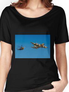 Hercules C-130 transport plane refuelling Women's Relaxed Fit T-Shirt