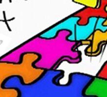 Golden Puzzle Piece Sticker
