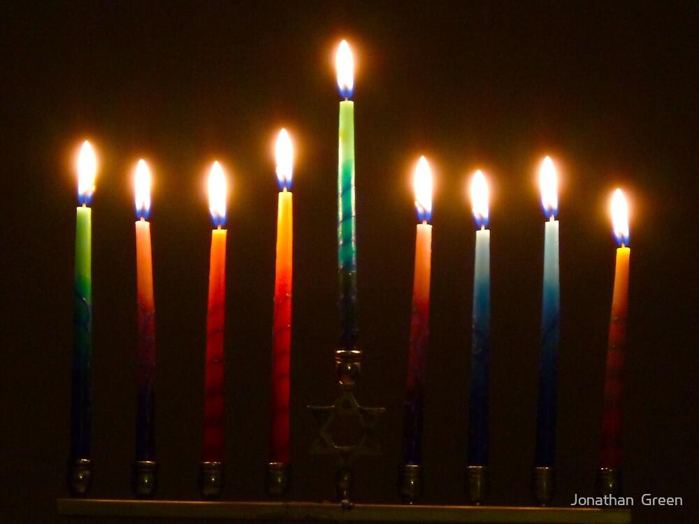 Hanukkah Lights Last Night by Jonathan  Green