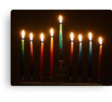 Hanukkah Lights Last Night Canvas Print