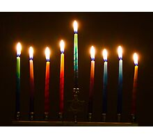 Hanukkah Lights Last Night Photographic Print