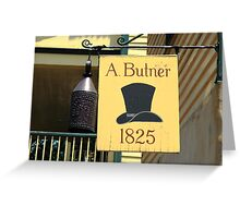Old Salem Hat Shop Greeting Card